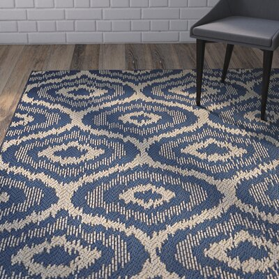 Aker Navy Indoor/Outdoor Area Rug Rug Size: 9 x 12