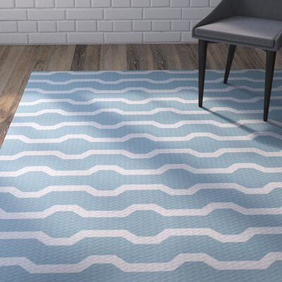 Uresti Decorative Holiday Geometric Print Light Blue Indoor/Outdoor Area Rug Rug Size: 4 x 6