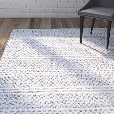 Cordell Silver Area Rug Rug Size: Rectangle 7'6