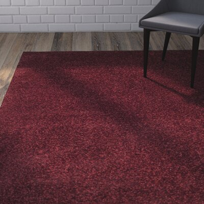 Brickner Red Area Rug Rug Size: 4 x 6, COLOR: Red