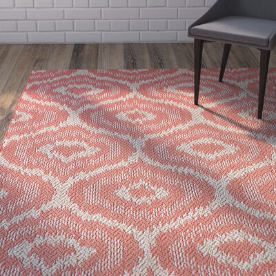 Aker Red Indoor/Outdoor Area Rug Rug Size: 53 x 76
