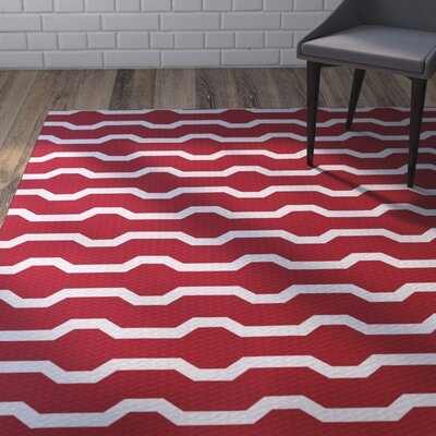 Uresti Decorative Holiday Geometric Print Red Woven Indoor/Outdoor Area Rug Rug Size: Rectangle 2 x 3