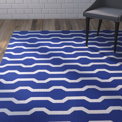 Uresti Decorative Holiday Geometric Print Royal Blue Indoor/Outdoor Area Rug Rug Size: 2' x 3'