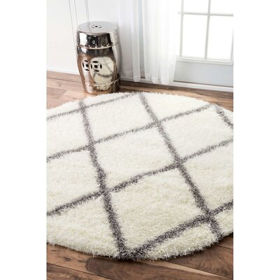 Bronson Off-White Area Rug Rug Size: Round 8