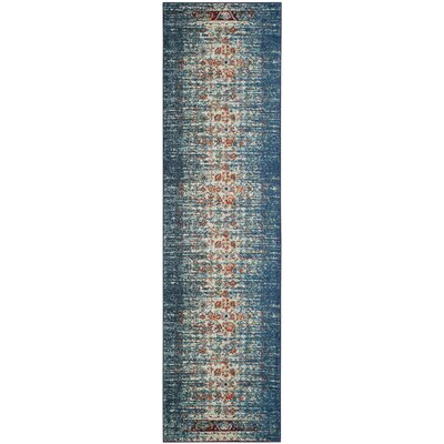 Amico Blue & Ivory Area Rug Rug Size: Runner 22 x 8