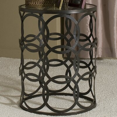 Arkadios End Table with Removable Glass Top