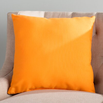 Branan Square Knife Edge Indoor/Outdoor Throw Pillow Color: Bright Orange, Size: 18 H x 18 W x 6 D