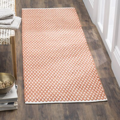 Amicus Hand Tufted Orange Area Rug Rug Size: Runner 23 x 11