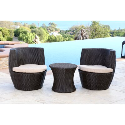 Jupiter 3 Piece Bistro Set with Cushion