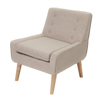 Slipper Chair Upholstery: Light Beige