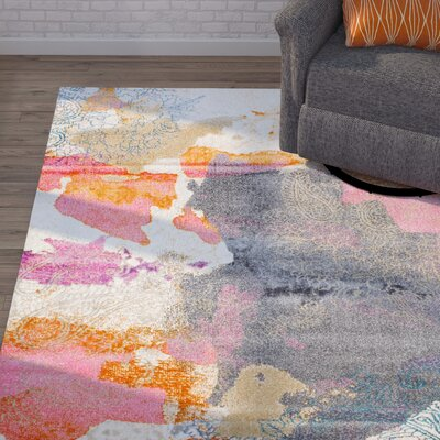 Virgil Pink Area Rug Rug Size: Rectangle 6 7 x 9