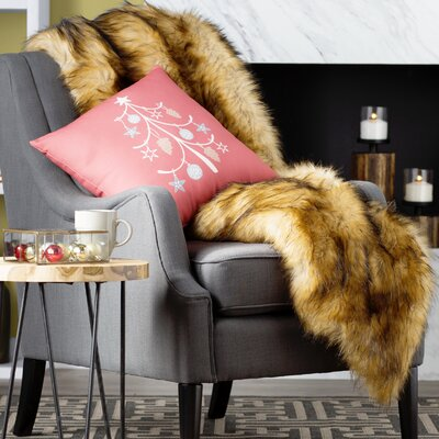 Gianni Racoon Faux Fur Throw Blanket
