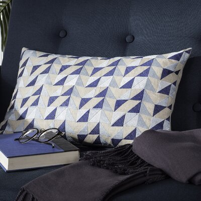 Apamea Geometric Linen Throw Pillow