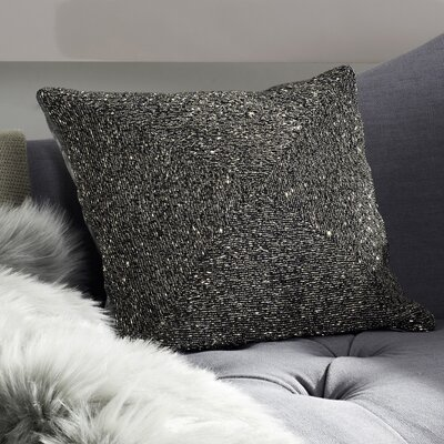 Glimmer Throw Pillow Color: Silver