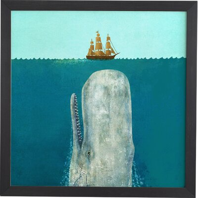 Varick Gallery 'The Whale' Framed Graphic Art
