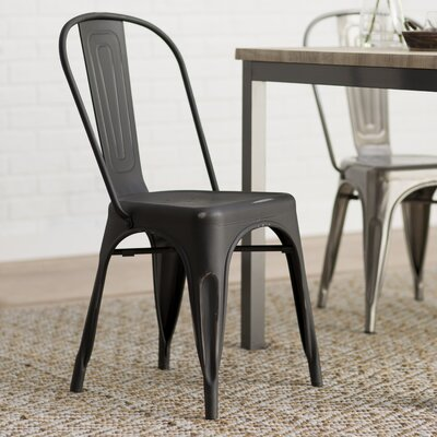 Leo Bistro Side Chairs Finish: Black