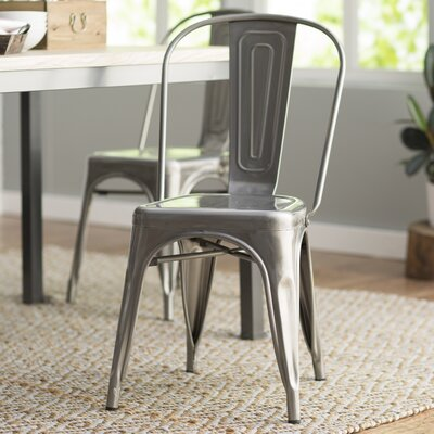 Leo Bistro Side Chairs Finish: Silver