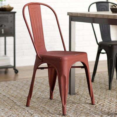 Leo Bistro Side Chairs Finish: Red