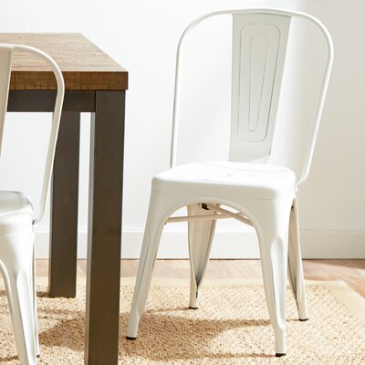 Leo Bistro Side Chairs Finish: White