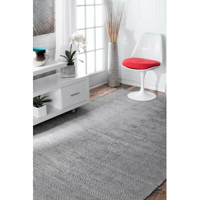 Marcelo Flat Woven Cotton Gray Area Rug Rug Size: Rectangle 9 x 12