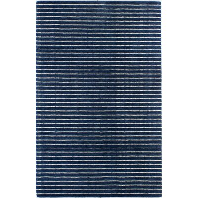 Worsham Hand-Woven Wool Blue Area Rug Rug Size: Rectangle 76 x 96