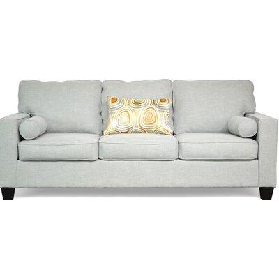 Doering Sofa Upholstery: Paradigm Mist / Freefall Tangerine