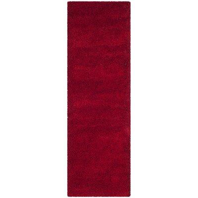 Brickner Red Area Rug Rug Size: Runner 23 x 11
