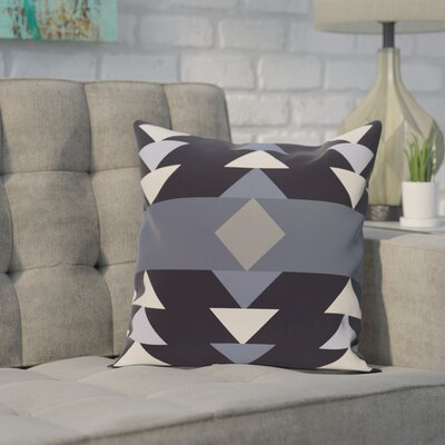 Deleo Geometric Print Throw Pillow Color: Navy Blue, Size: 26 H x 26 W