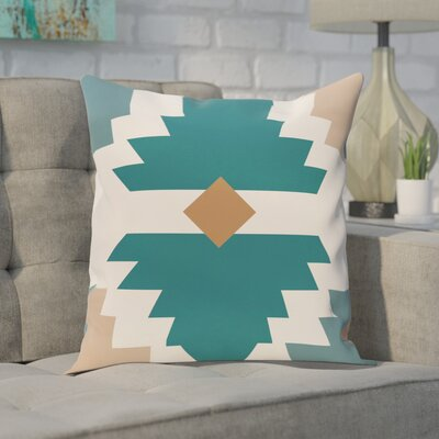Delcid Geometric Print  OutdoorThrow Pillow Size: 20 H x 20 W, Color: Aqua