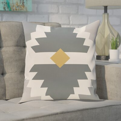 Delcid Geometric Print  OutdoorThrow Pillow Size: 20 H x 20 W, Color: Gray