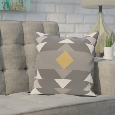 Deleo Geometric Print Throw Pillow Size: 16 H x 16 W, Color: Gray