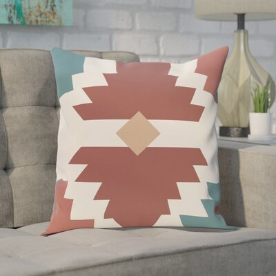 Conley Geometric Print OutdoorThrow Pillow Size: 20 H x 20 W, Color: Orange