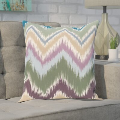 Guillame Chevron Stripes Print Outdoor Pillow Color: Herb Green, Size: 20 H x 20 W x 1 D