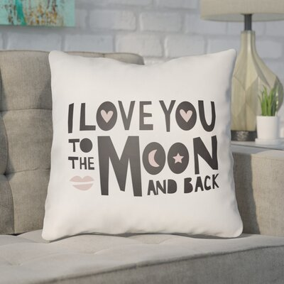 Zoya Indoor/Outdoor Throw Pillow Size: 20 H x 20 W x 4 D, Color: Black