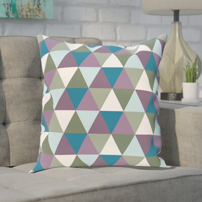 Seybert Geometric Print Outdoor Pillow Color: Larkspur, Size: 16 H x 16 W x 1 D