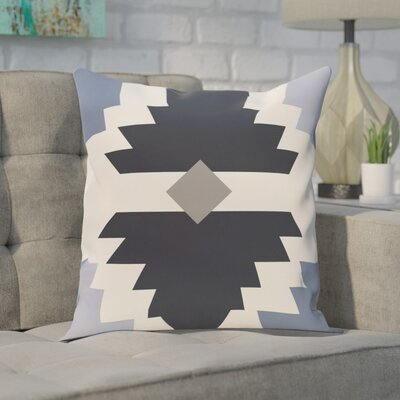 Conley Geometric Print OutdoorThrow Pillow Color: Navy Blue, Size: 20 H x 20 W