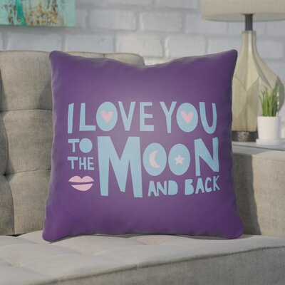 Shadle Indoor/Outdoor Throw Pillow Size: 20 H x 20 W x 4 D, Color: Purple