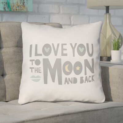 Zoya Indoor/Outdoor Throw Pillow Size: 18 H x 18 W x 4 D, Color: Gray