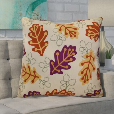 Avalos Retro Leaves Floral Euro Pillow Color: Purple