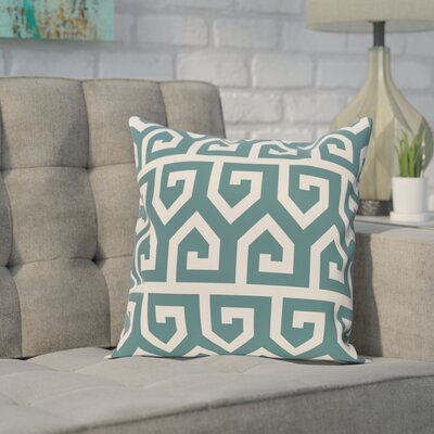 Alber Geometric Print Throw Pillow Size: 26 H x 26 W, Color: Teal