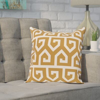 Alber Geometric Print Throw Pillow Size: 26 H x 26 W, Color: Gold