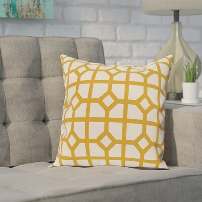 Ketron Geometric Print Throw Pillow Size: 16 H x 16 W, Color: Gold