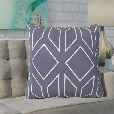 Baccus 100% Linen Throw Pillow Cover Size: 22 H x 22 W x 1 D, Color: BlueNeutral