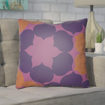 Anderson Mill Throw Pillow Size: 20 H x 20 W x 4 D, Color: Purple/Orange