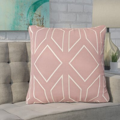 Baccus Linen Pillow Cover Size: 20 H x 20 W x 1 D, Color: PinkNeutral