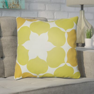 Anderson Mill Throw Pillow Color: Lime/Orange, Size: 22 H �x 22 W x 4 D