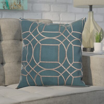 Alam 100% Linen Throw Pillow Cover Size: 18 H x 18 W x 1 D, Color: GreenGray