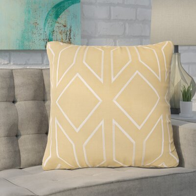 Baccus Linen Pillow Cover Size: 20 H x 20 W x 1 D, Color: YellowNeutral