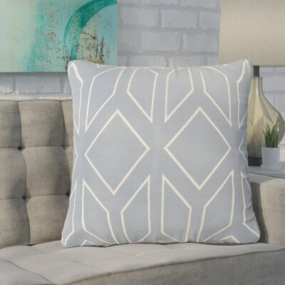 Baccus Linen Pillow Cover Size: 18 H x 18 W x 1 D, Color: TealCream