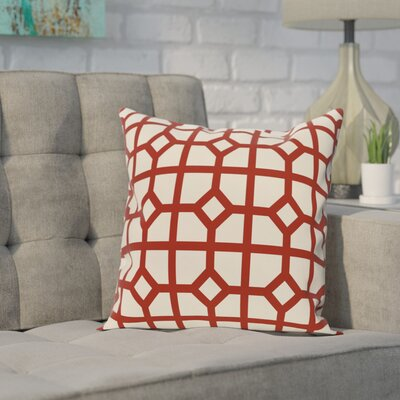 Ketron Geometric Print Throw Pillow Size: 26 H x 26 W, Color: Orange
